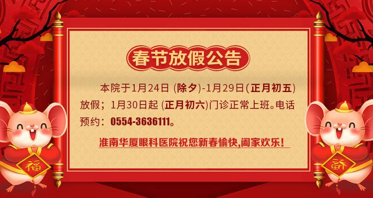 春节放假通知banner